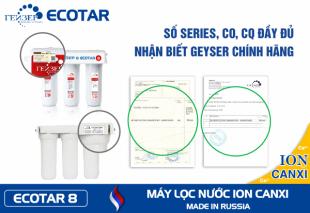 Máy lọc nước Ion Canxi Geyser ECOTAR 8